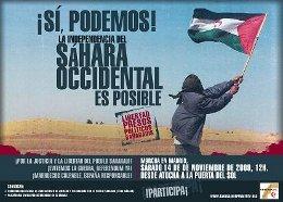 Marcha Justicia y Libertad para el pueblo saharaui. Madrid, 14N