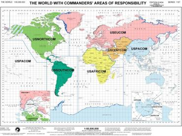 Áreas responsabilidad comandancias norteamericanas