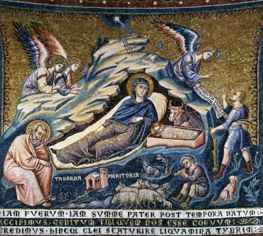 NATIVIDAD PIETRO CAVALLINI STA MARIA IN TRASTEVERE 1296 1300