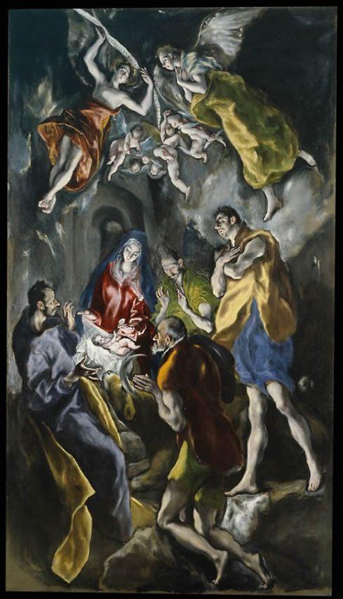 EL GRECO ADORACION DE LOS PASTORES 1612 1614